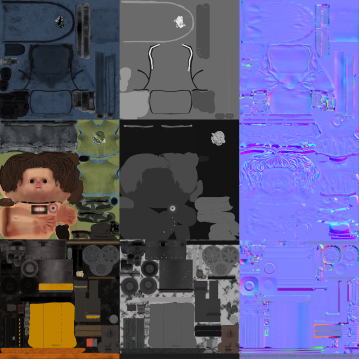 All textures used for model.